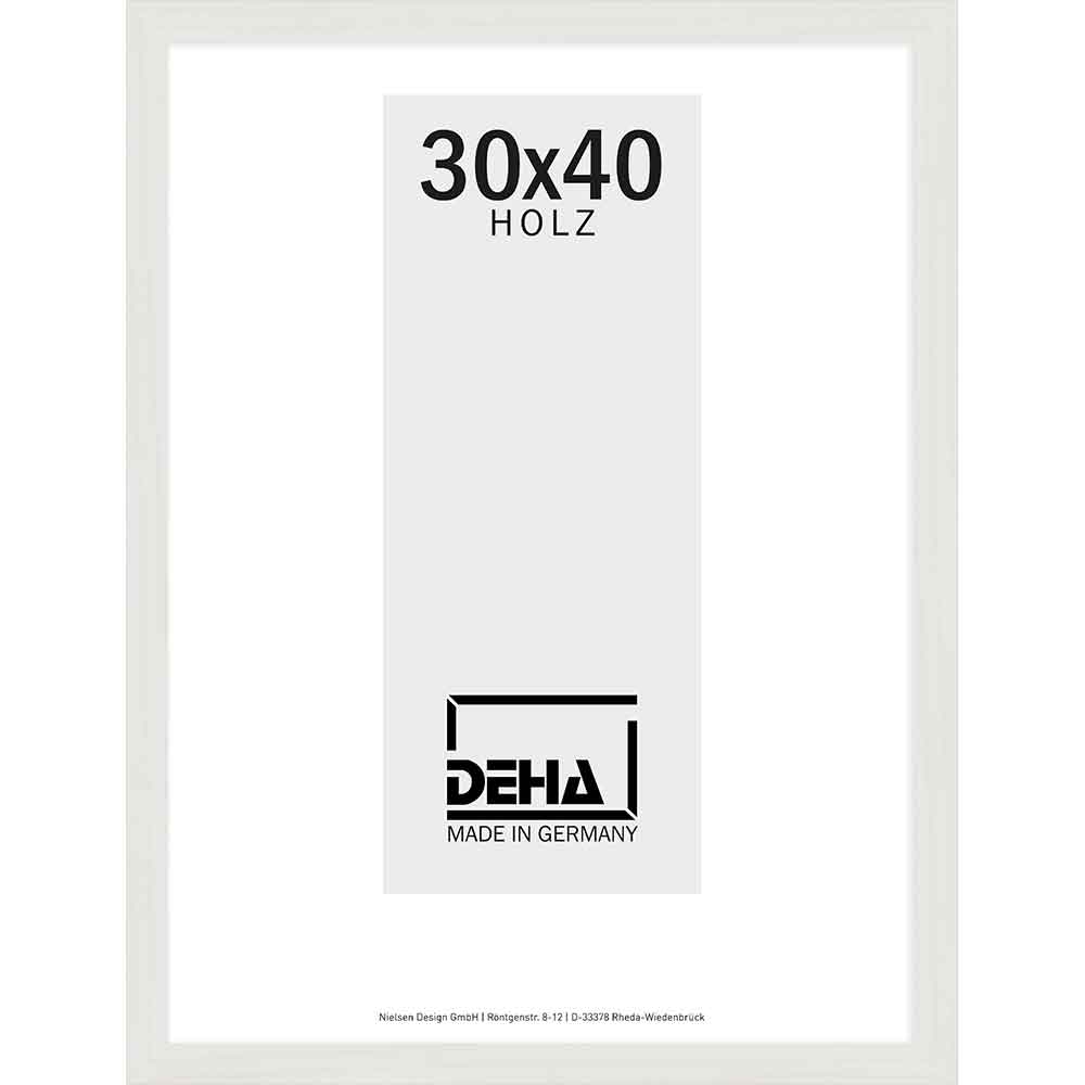Cornice in legno Nemesis su misura acero bianco velato | vetro artificiale