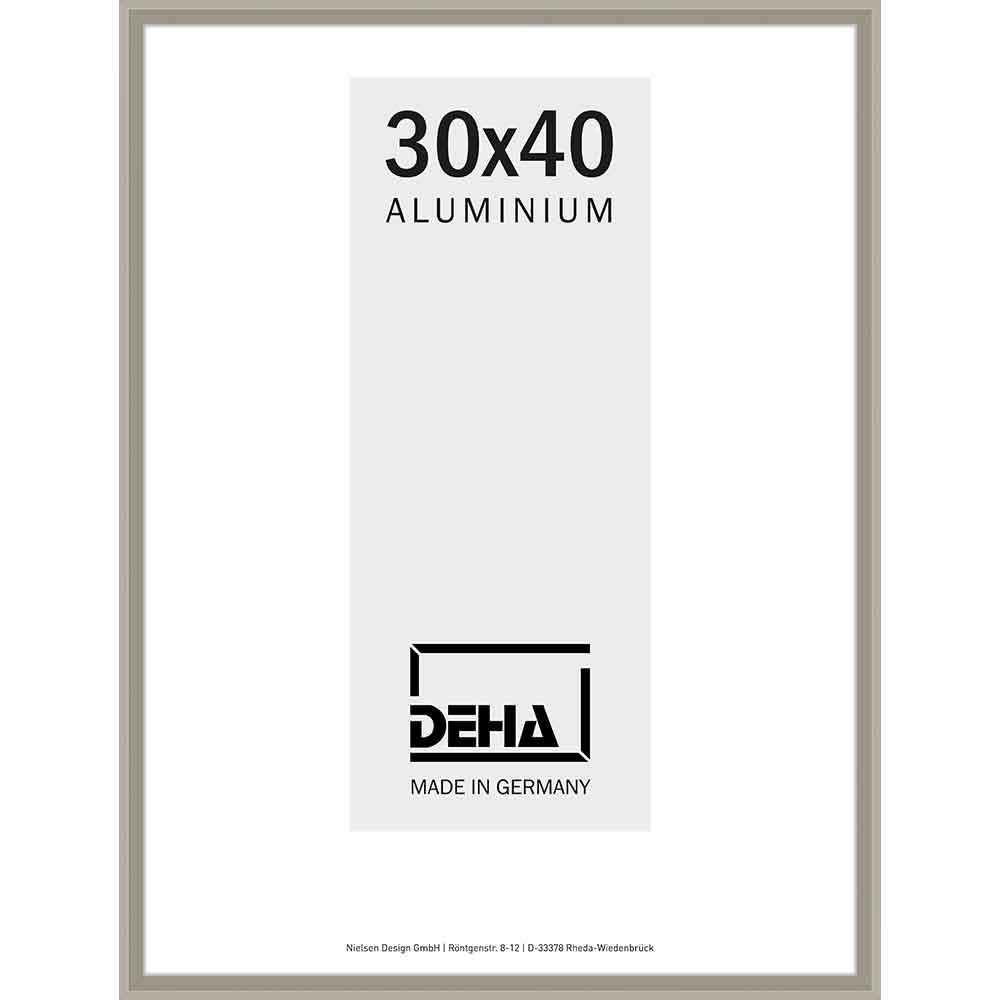 Cornice in alluminio Mizar 20x28 cm | argento brunito | vetro standarde