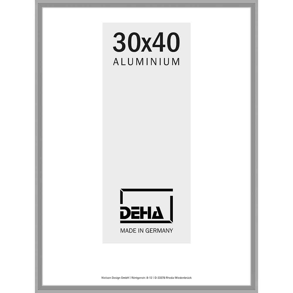 Cornice in alluminio Mizar su misura argento grigio opaco   vetro standard