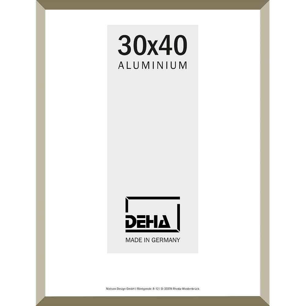 Cornice in alluminio Wega 20x28 cm | argento brunito | vetro normale