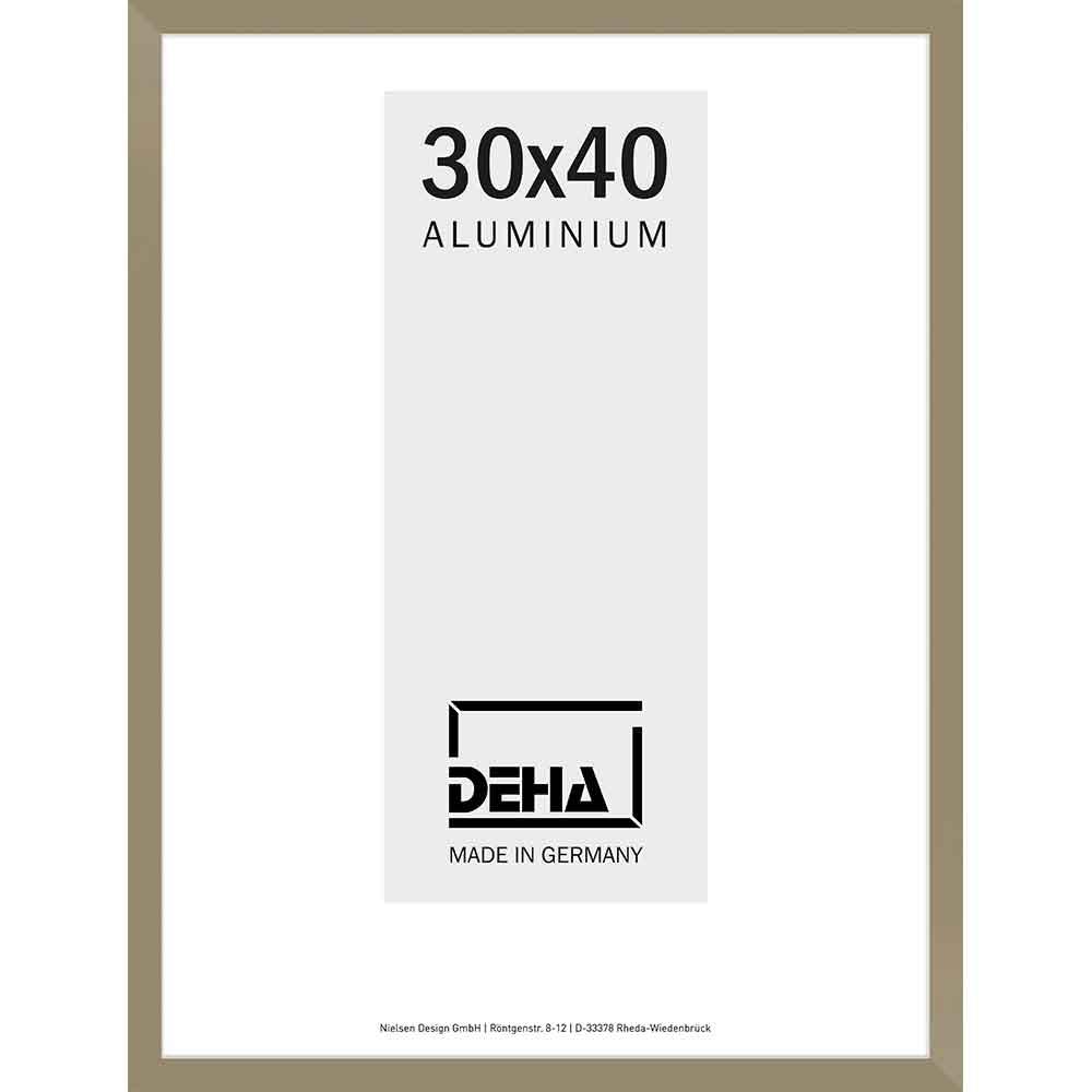 Cornice in alluminio Bellatrix 60x70 cm | argento brunito | vetro artificiale