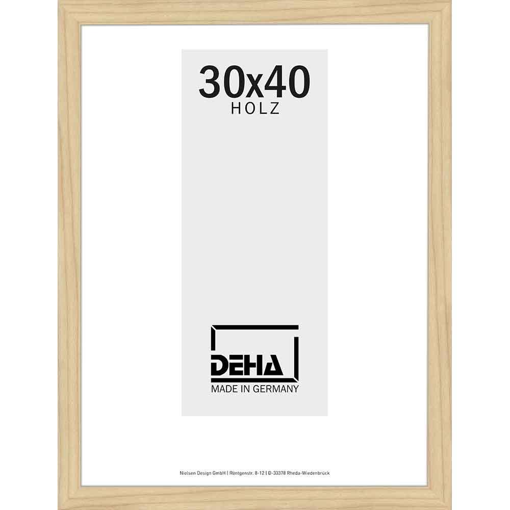 Cornice in legno Thuban 70x80 cm | acero naturale velato | vetro artificiale