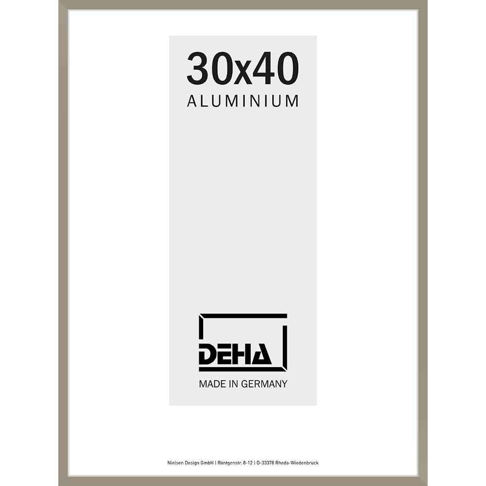 Cornice in alluminio Vega 60x70 cm | argento brunito | vetro artificiale