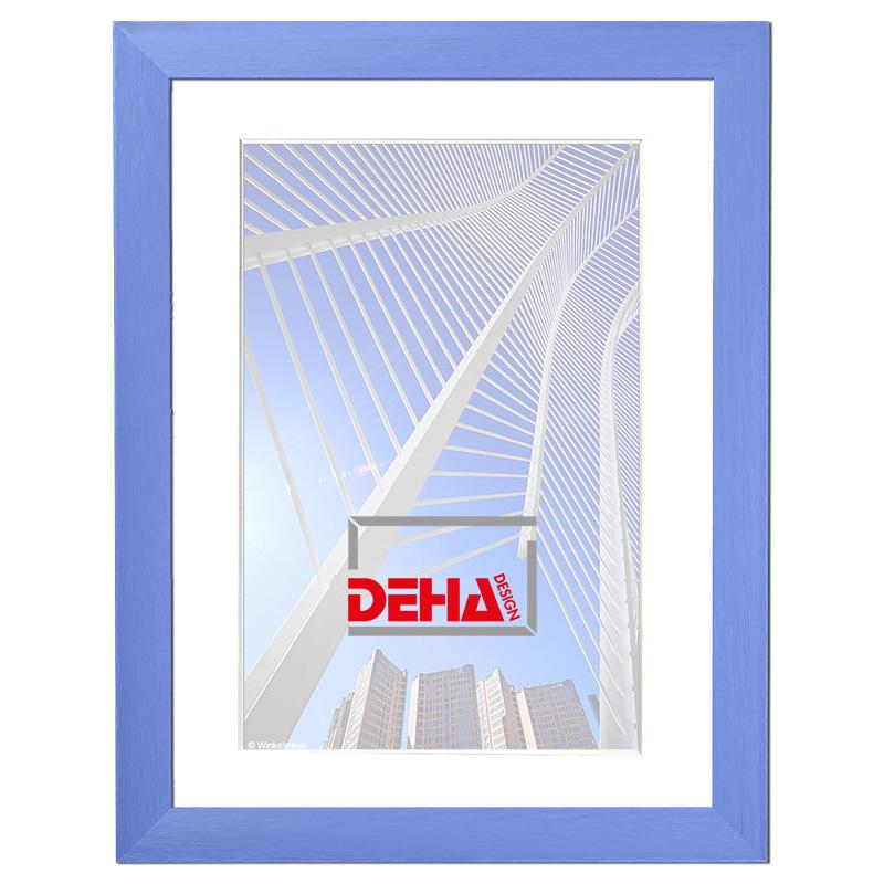 Cornice in alluminio Capella 60x70 cm | blu reale | vetro artificiale
