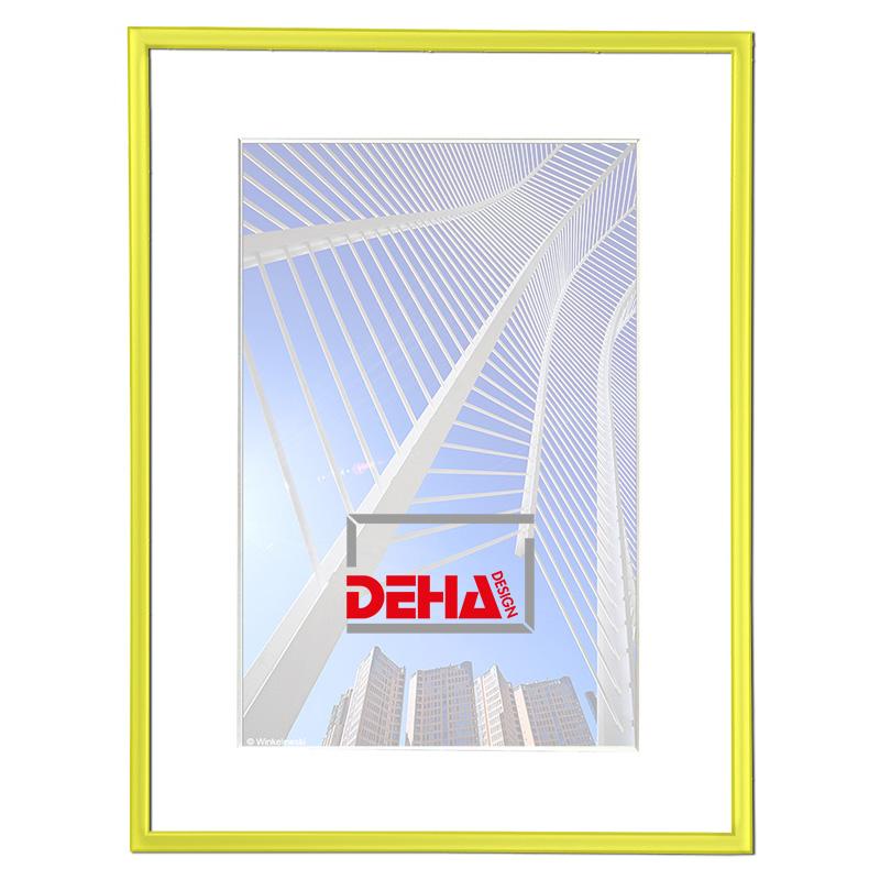 Cornice in alluminio Atria 20x28 cm | giallo 1021 | vetro normale