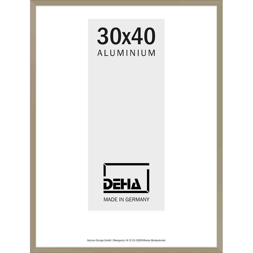 Cornice in alluminio Superba 20x28 cm | argento brunito | vetro standarde