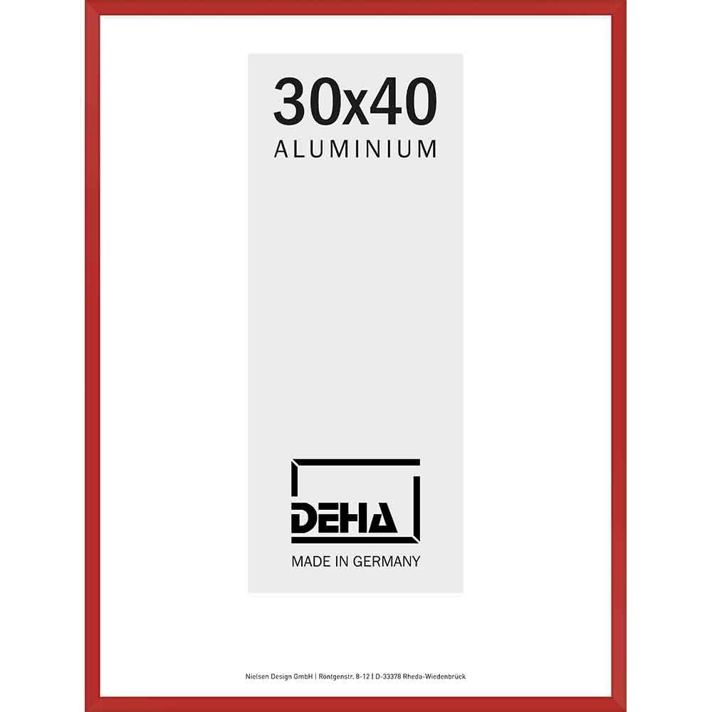 Cornice in alluminio Superba 60x70 cm | rosso carmino 3002 | vetro artificiale