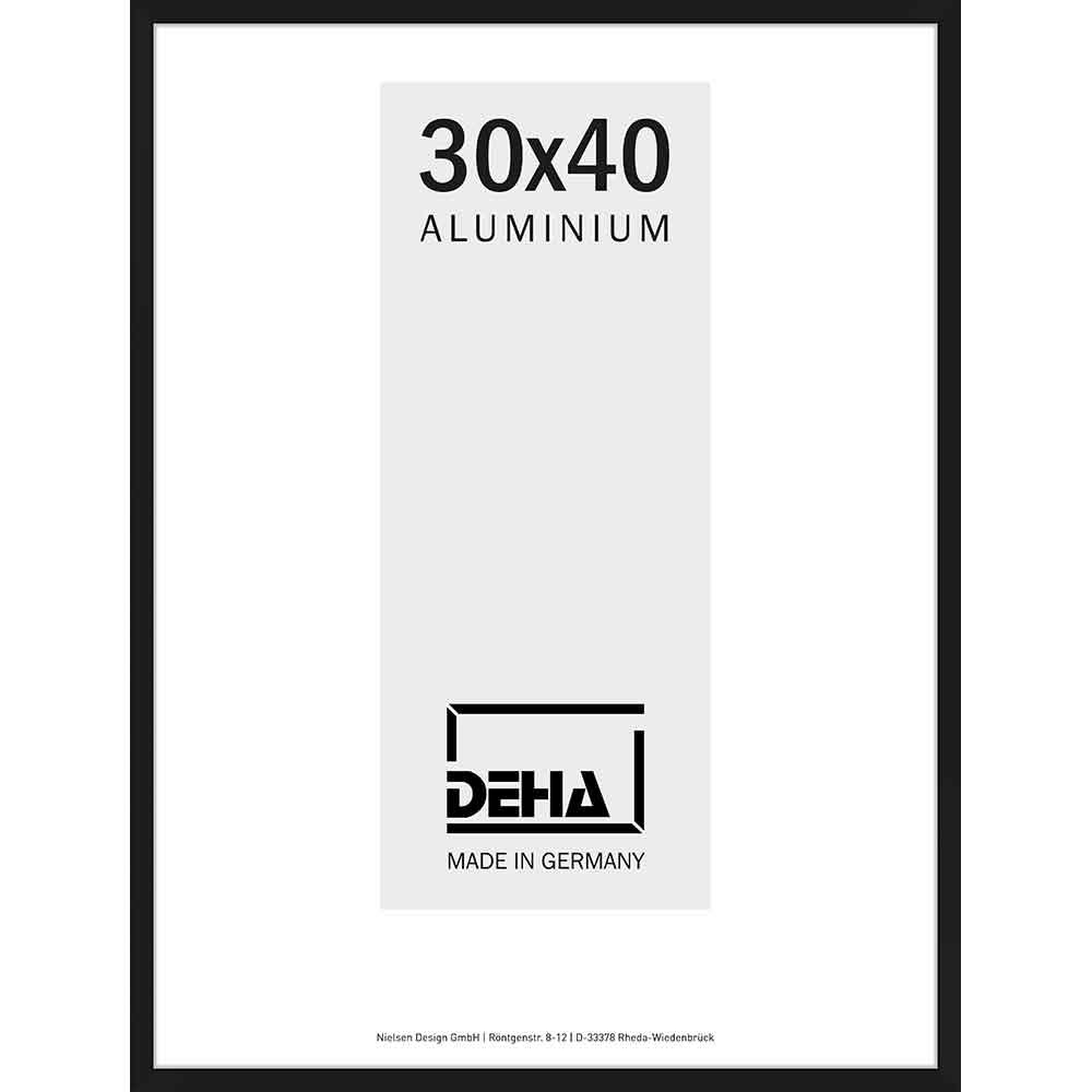 Cornice in alluminio Superba 20x28 cm | nero opaco | vetro standarde