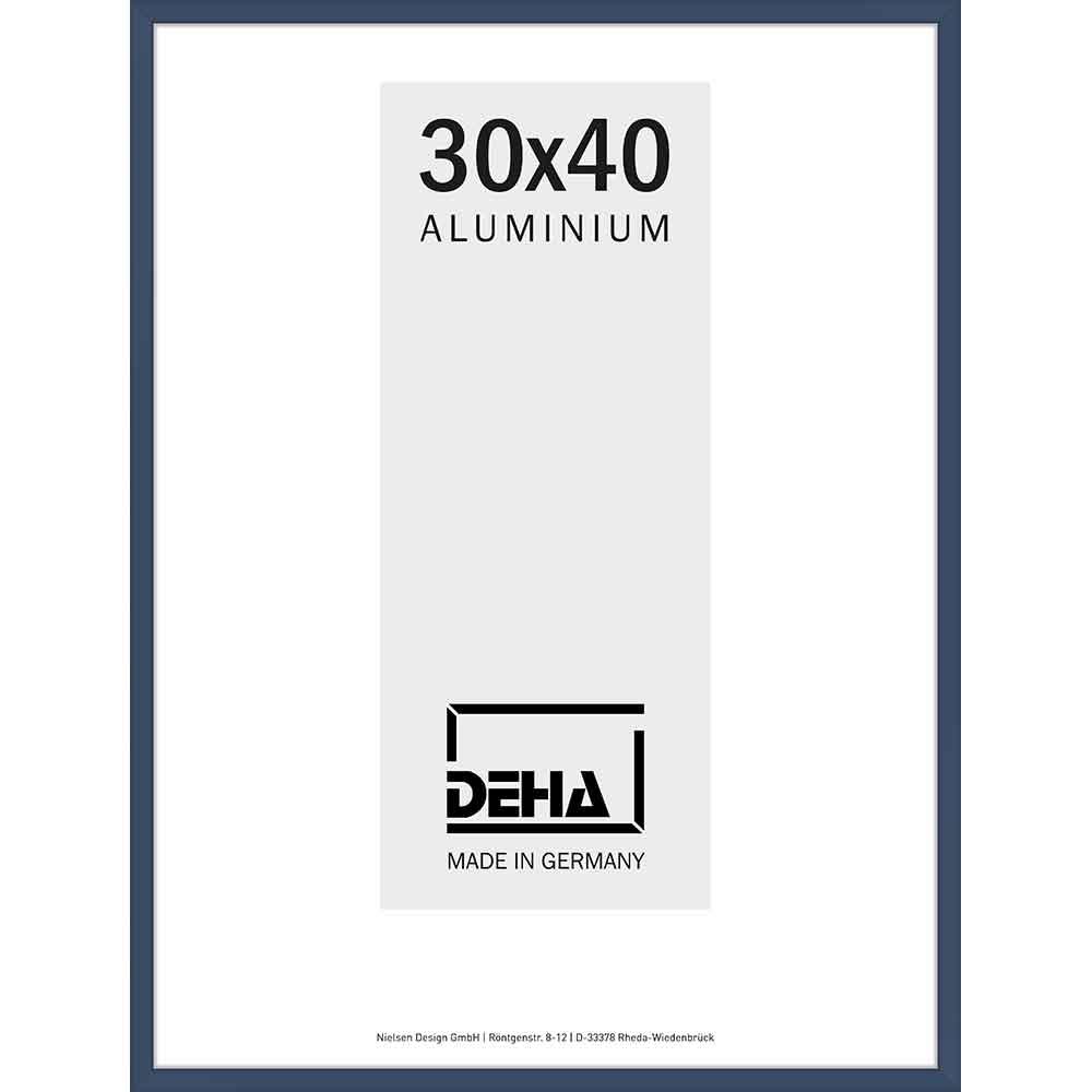 Cornice in alluminio Superba 20x28 cm | grigio acciaio 5011 | vetro standarde
