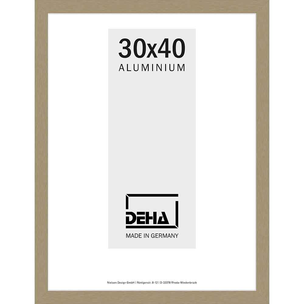 Cornice in alluminio Polaris 30x40 cm | argento brunito | vetro standarde
