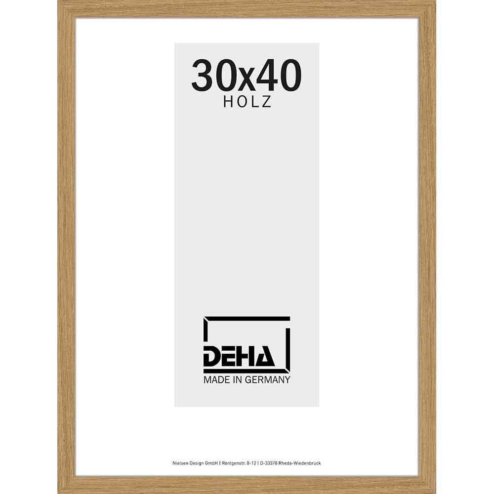 Cornice in legno Hamal 70x80 cm | rovere | vetro artificiale