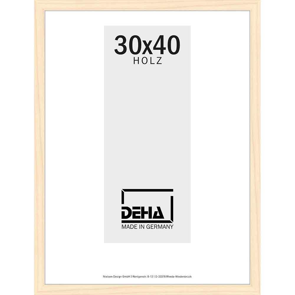 Cornice in legno Hamal 20x28 cm | pino naturale velato | vetro normale