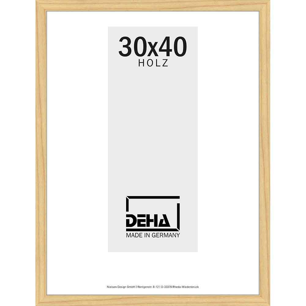 Cornice in legno Hamal 70x80 cm | pino naturale non trattato | vetro artificiale