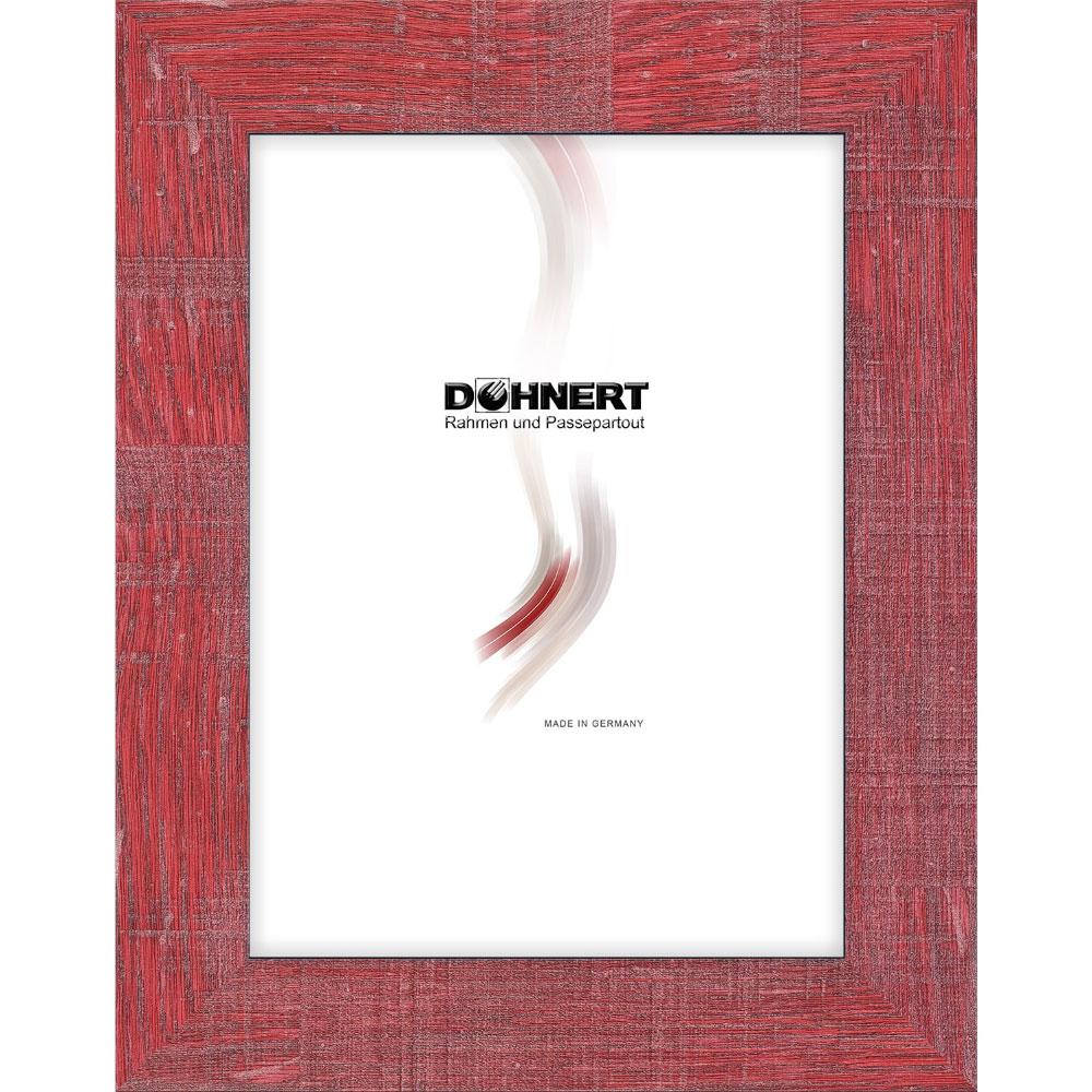 Cornice di plastica Archway 18x18 cm | rosso | vetro normale