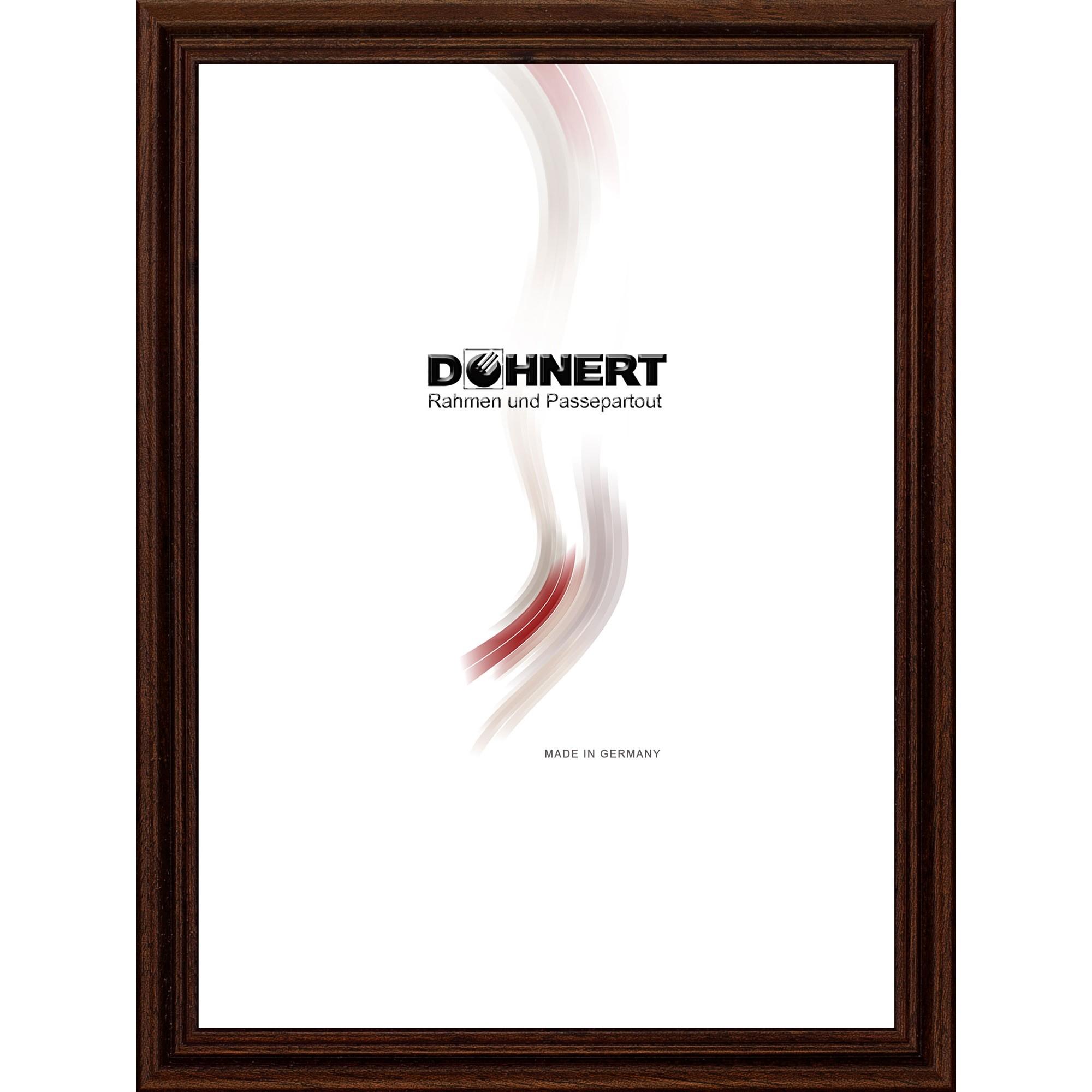 Cornice in legno Barkingside 9x13 cm | marrone scuro | vetro standarde