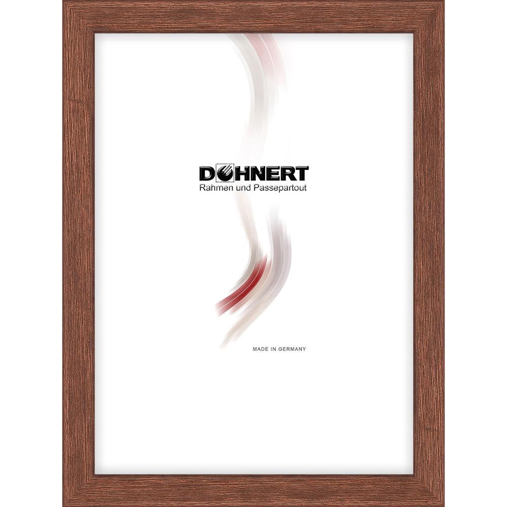 Cornice in legno Bermondsey 9x13 cm | marrone | vetro standarde
