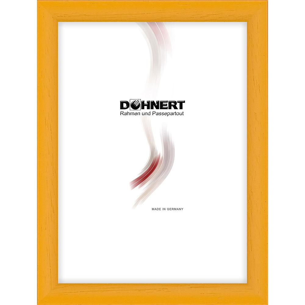 Cornice in legno Buckhurst Hill 18x18 cm | giallo | vetro standarde
