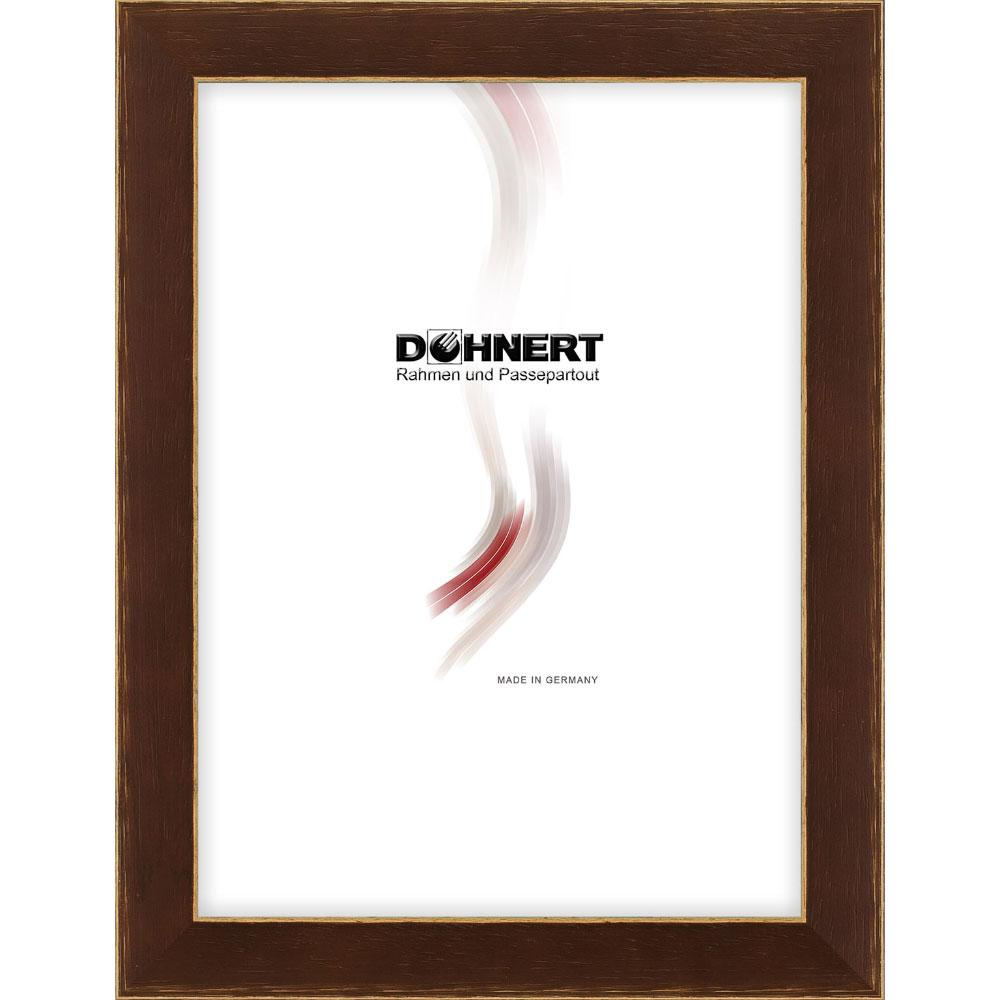 Cornice in legno Chancery Lane 30x60 cm | marrone | vetro standarde