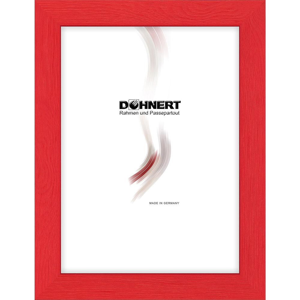 Cornice in legno Clapham South 50x100 cm | rosso | vetro standarde