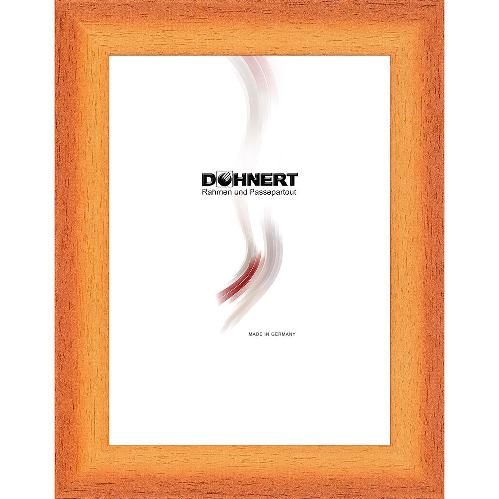 Cornice in legno Croxley 18x18 cm | arancione | vetro standarde