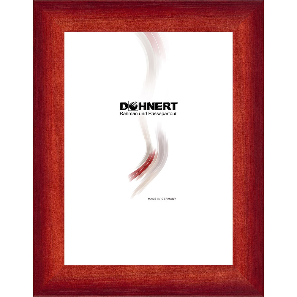 Cornice in legno Croxley 50x100 cm | rosso | vetro standarde