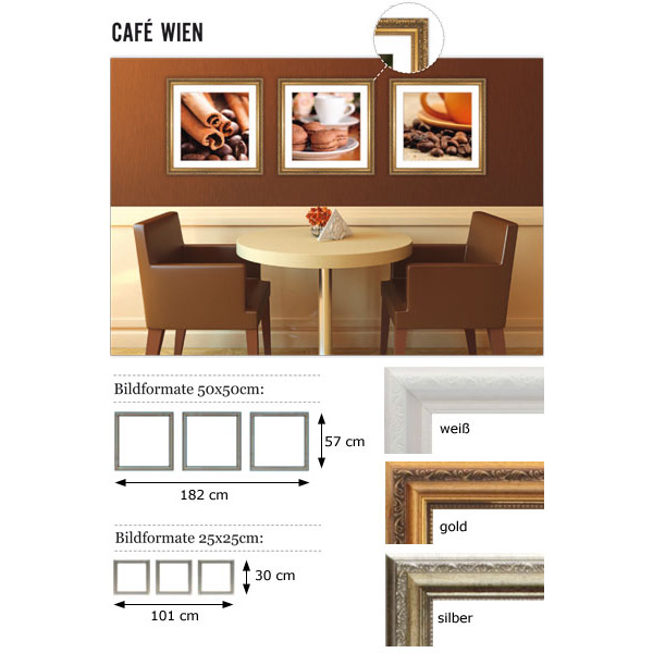 """Galleria per parete """"Café Wien"""""""