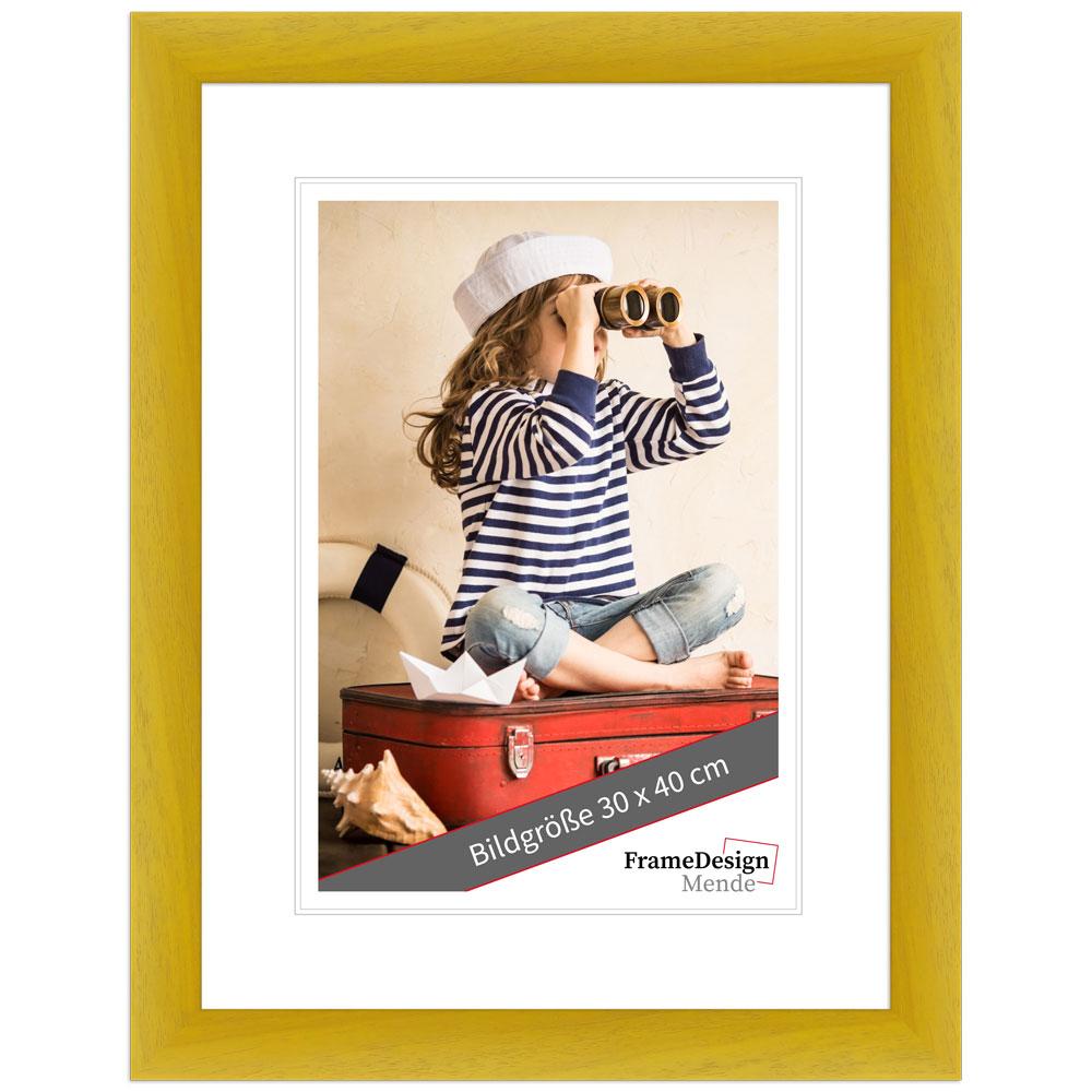 Cornice in legno Galet 13x18 cm | giallo | vetro standarde