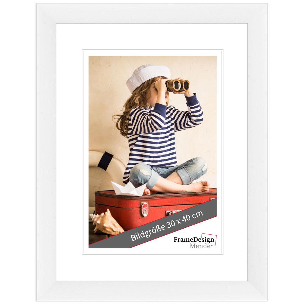 Cornice in legno Galet 10x13 cm | bianco | vetro standarde