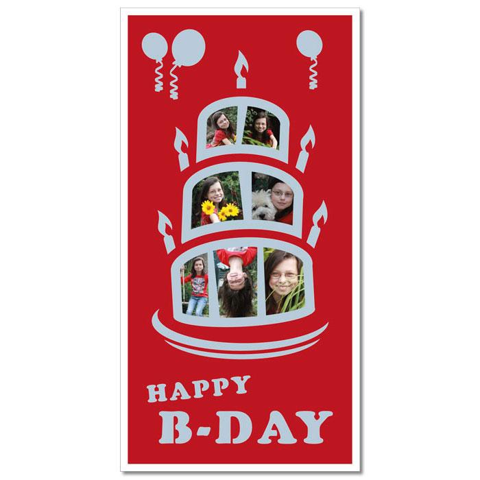 """Passe-partout a tema """"torta di compleanno"""""""