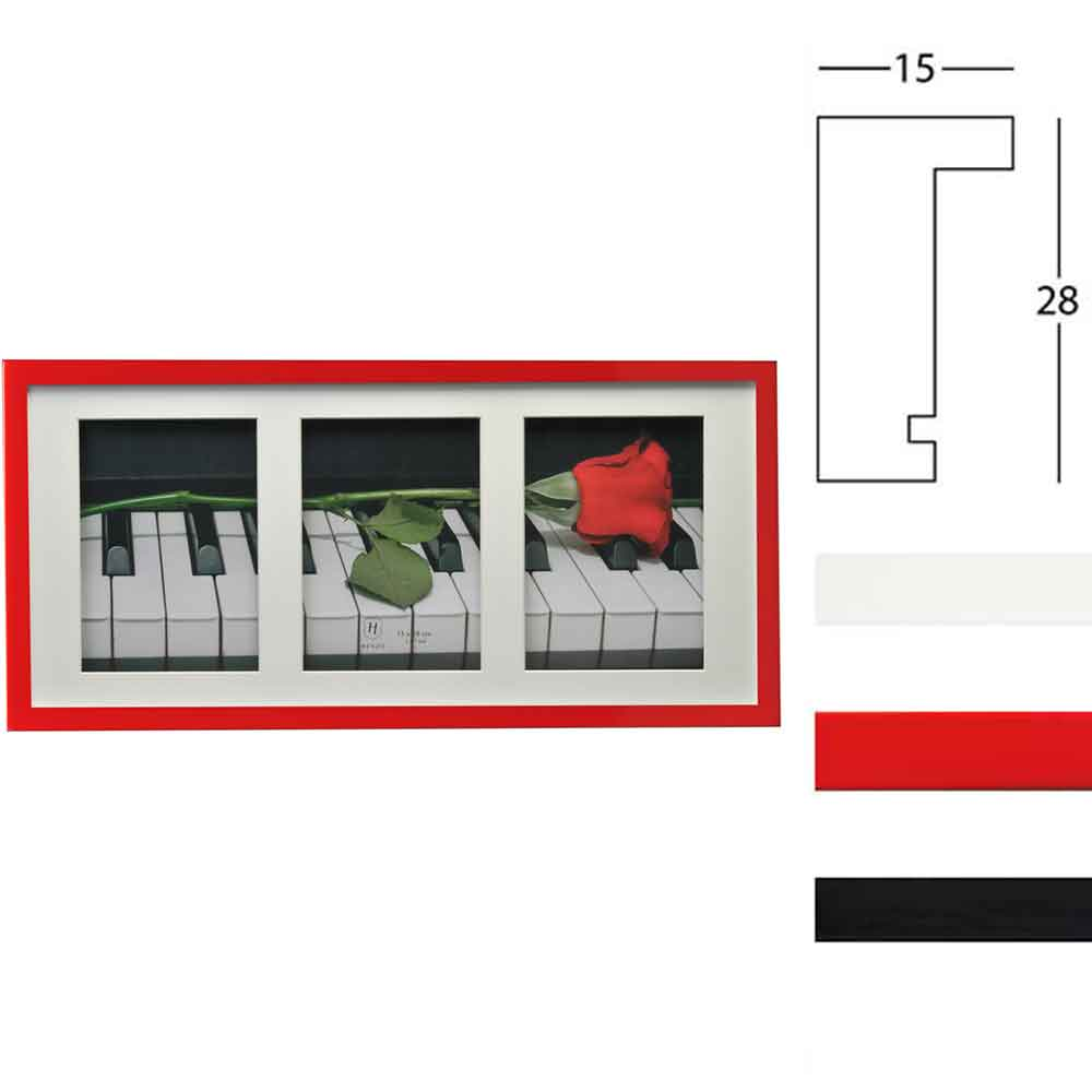 Cornice galleria Piano per 3 immagini