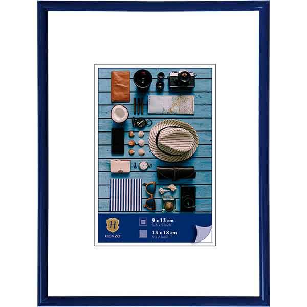 Cornice di plastica Napoli Colour 10x15 cm (7x10 cm) | blu | vetro standarde
