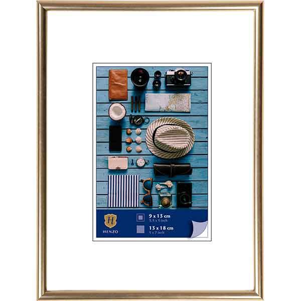 Cornice di plastica Napoli Metal 10x15 cm (7x10 cm)   oro   vetro standarde