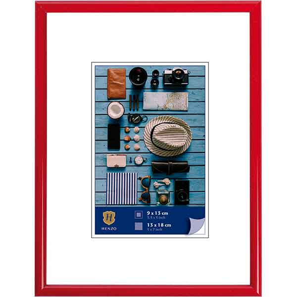 Cornice di plastica Napoli Colour 10x15 cm (7x10 cm) | rosso | vetro standarde