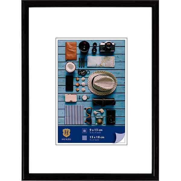 Cornice di plastica Napoli Colour 10x15 cm (7x10 cm) | nero | vetro standarde
