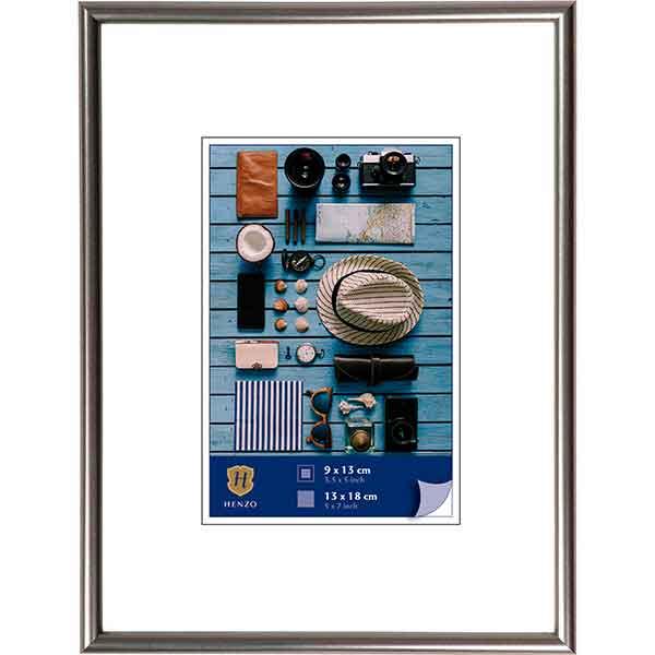 Cornice di plastica Napoli Metal 10x15 cm (7x10 cm)   acciaio   vetro standarde