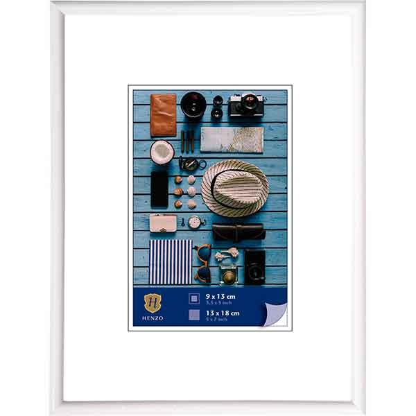 Cornice di plastica Napoli Colour 24x30 cm (15x20 cm) | bianco | vetro standarde