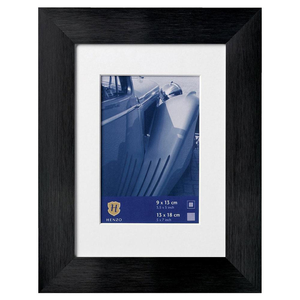 Cornice in alluminio Luzern con passe-partout 60x80 cm (50x70 cm)   nero   vetro standarde