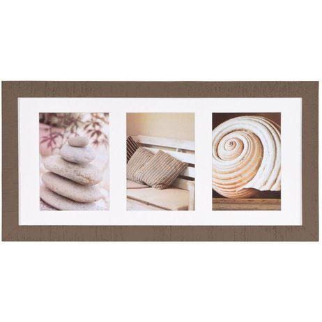 Cornice galleria Driftwood per 3 immagini 13x18 cm   Marrone   Vetro standard