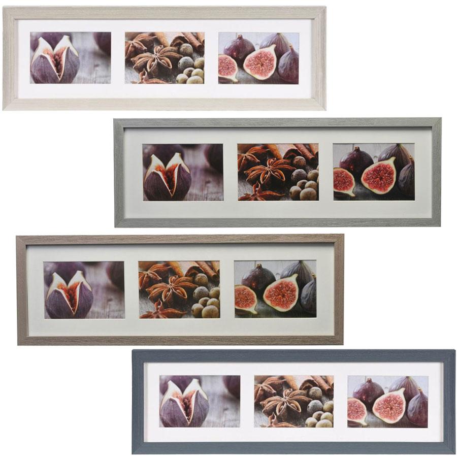 Cornice galleria Deco per 3 immagini