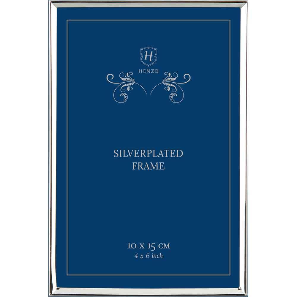Cornice di metallo Elly 10x15 cm | argento | vetro standarde