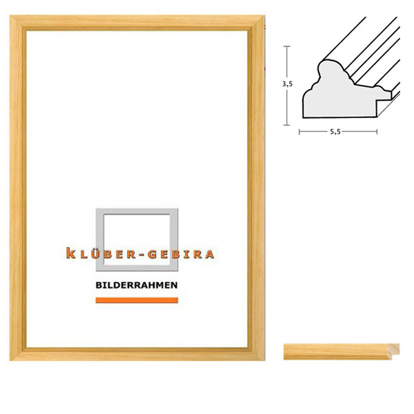 Cornice in legno Alcoy 20x30 cm | naturale verniciato | vetro standarde