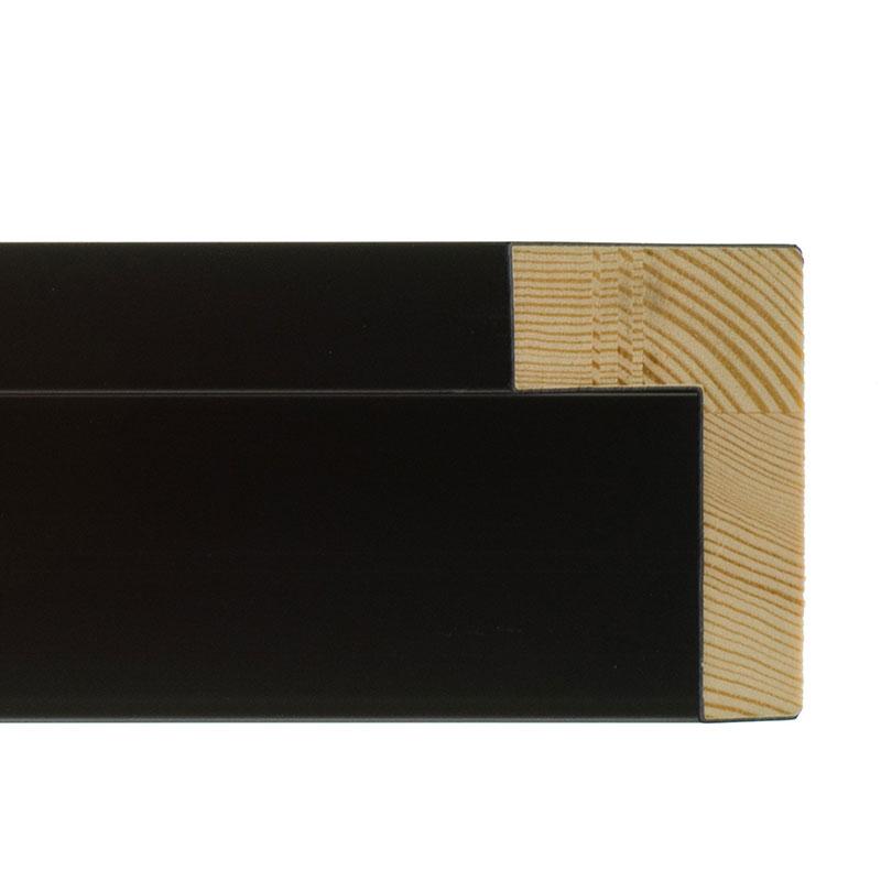 Profilato di tenuta Merida nero | cornice senza vetro e supporto sul retro