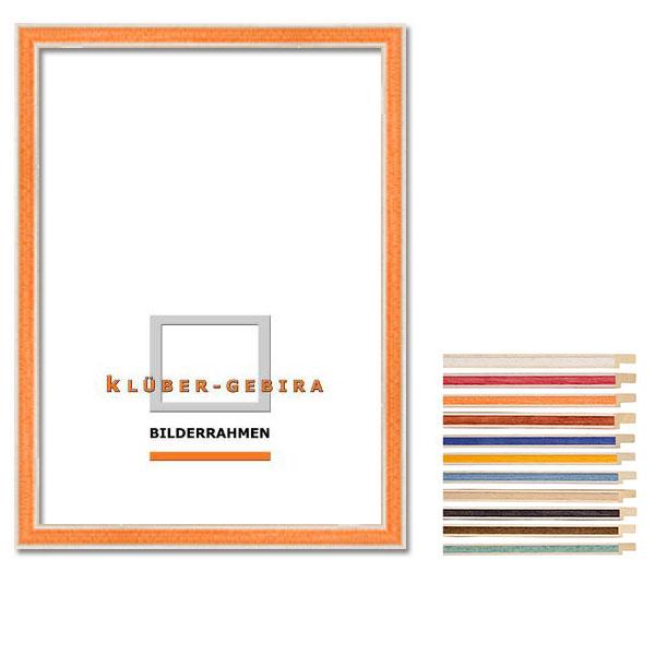Cornice in legno Arganda 20x30 cm | casa di campagna, marrone, 2 bordi bianchi | vetro standarde
