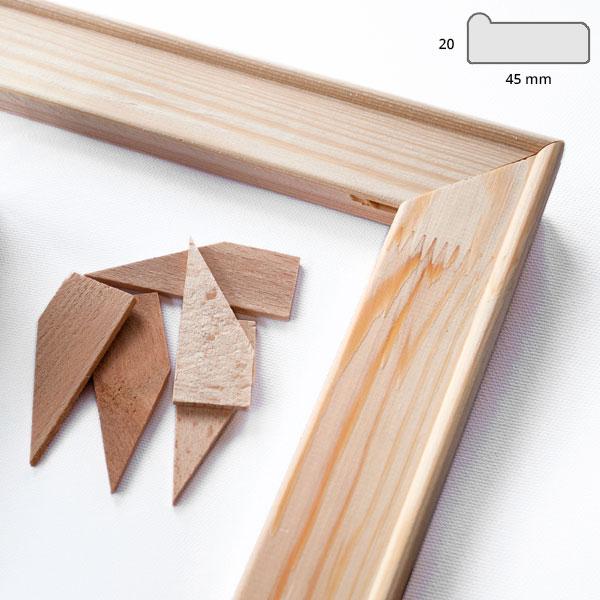 Listelli 4,5x1,9 cm 18x24 cm | legno di pino