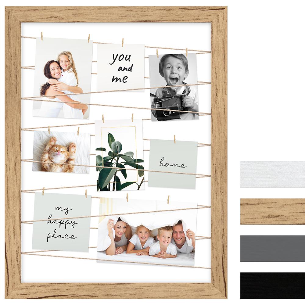 Portafoto multiplo con cordicella per 20 immagini