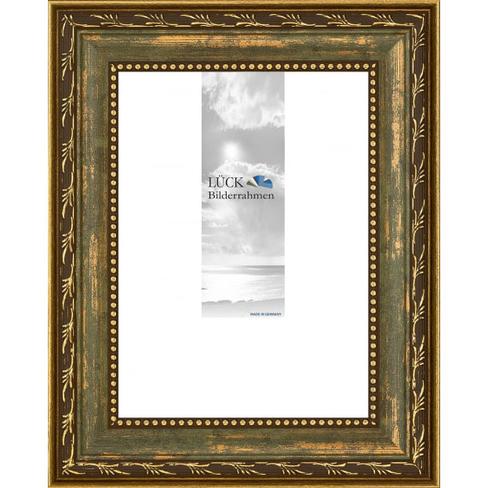 Cornice barocca Fichtenau 13x18 cm | verde | vetro antiriflesso