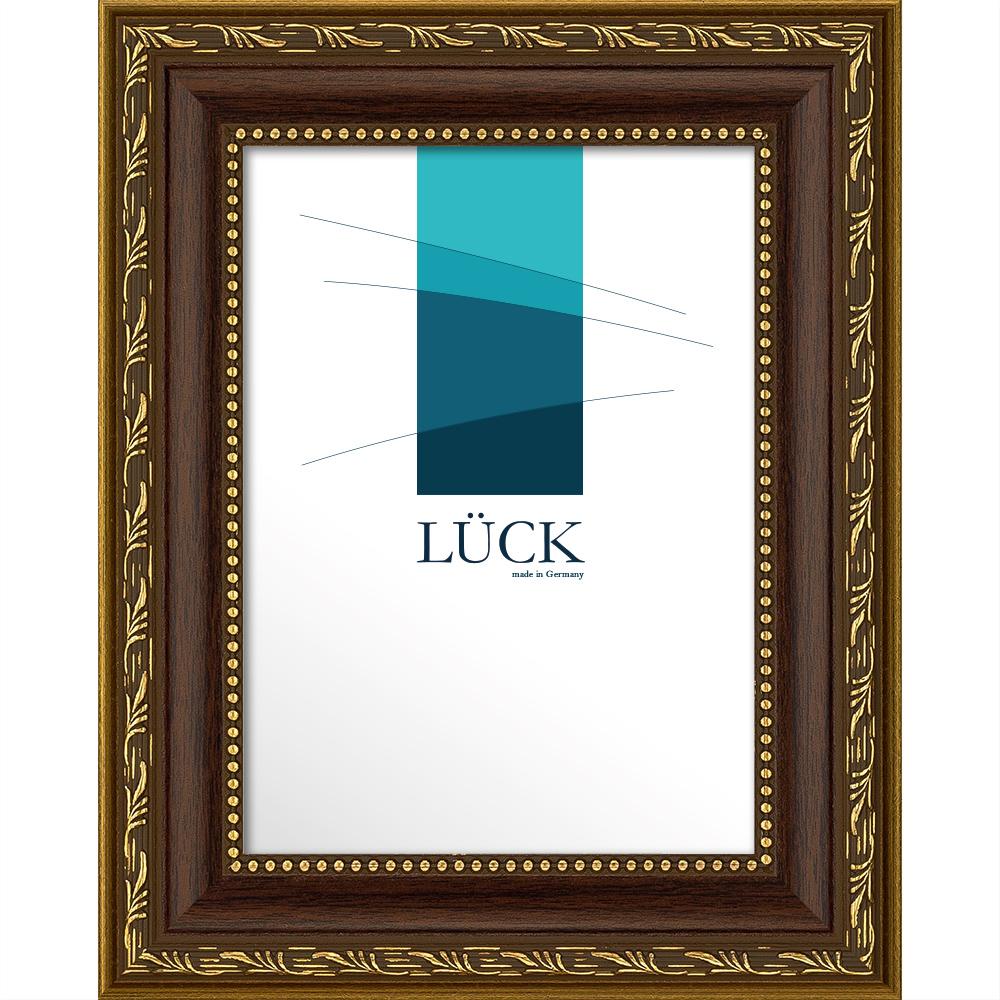 Cornice barocca Fichtenau 7x10 cm | noce | vetro antiriflesso