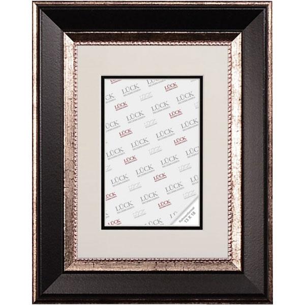 Cornice barocca Waldkirch con passe-partout 15x20 cm (13x18 cm) | nero | vetro standarde