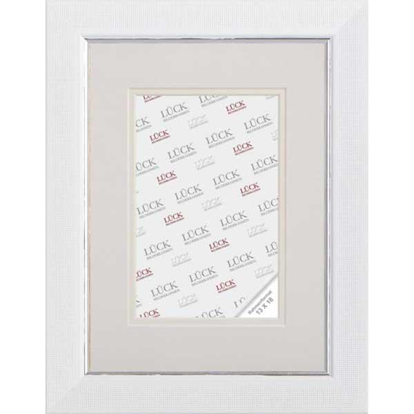 Cornice di plastica Egesheim con passe-partout 18x18 cm (10x10 cm) | bianco | vetro normale