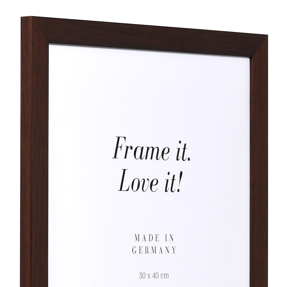 Cornice in legno Top Pro 10x15 cm | marrone | vetro standarde